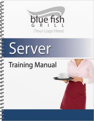 Restaurant Employee Training Manual   Sample Cover Template  Manual Format Template